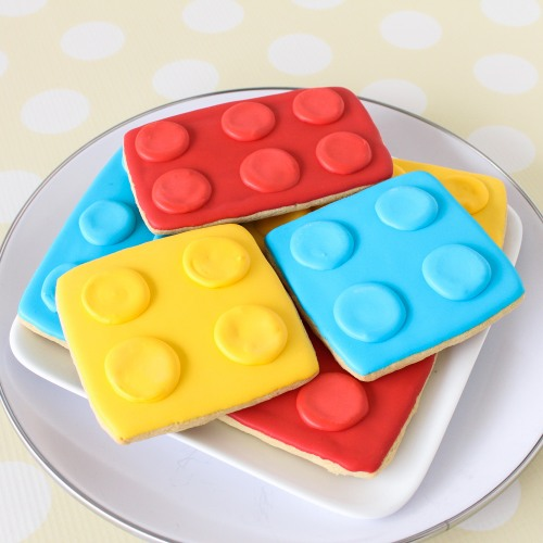 Lego Shaped Cookies
