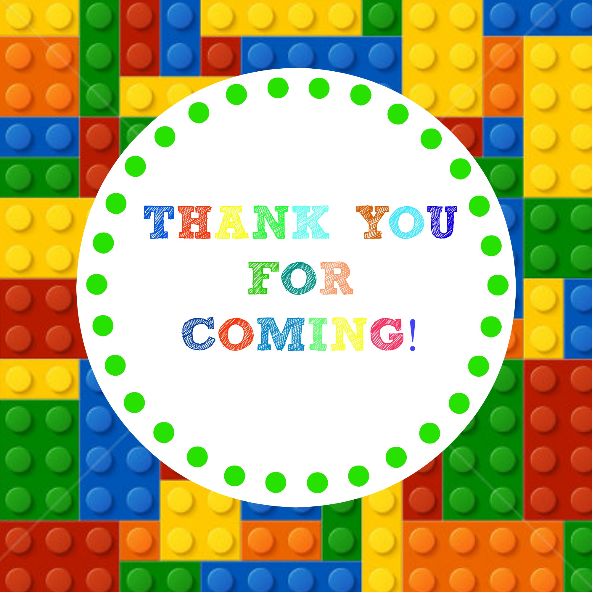 Free Printable Lego Birthday Party Thank You Gift Tags