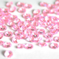 baby shower pink diamond confetti