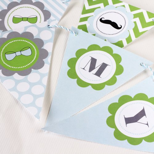 Little Man Baby Shower Bunting Flags
