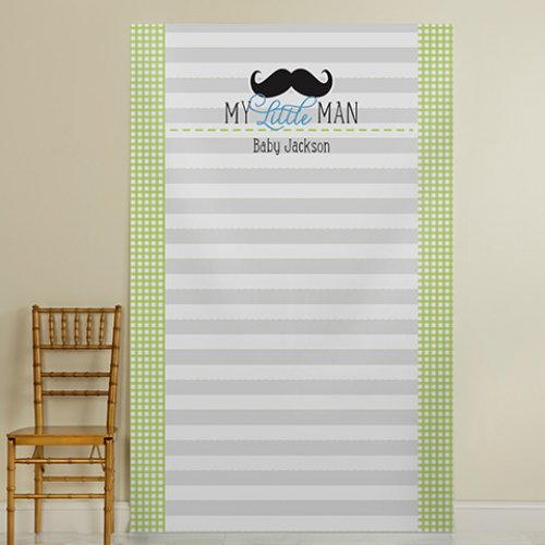 Little Man Baby Shower Photo Backdrop