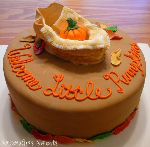 Welcome Little Pumpkin Baby Shower Cake
