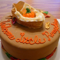 Little Pumpkin Baby Shower Cake