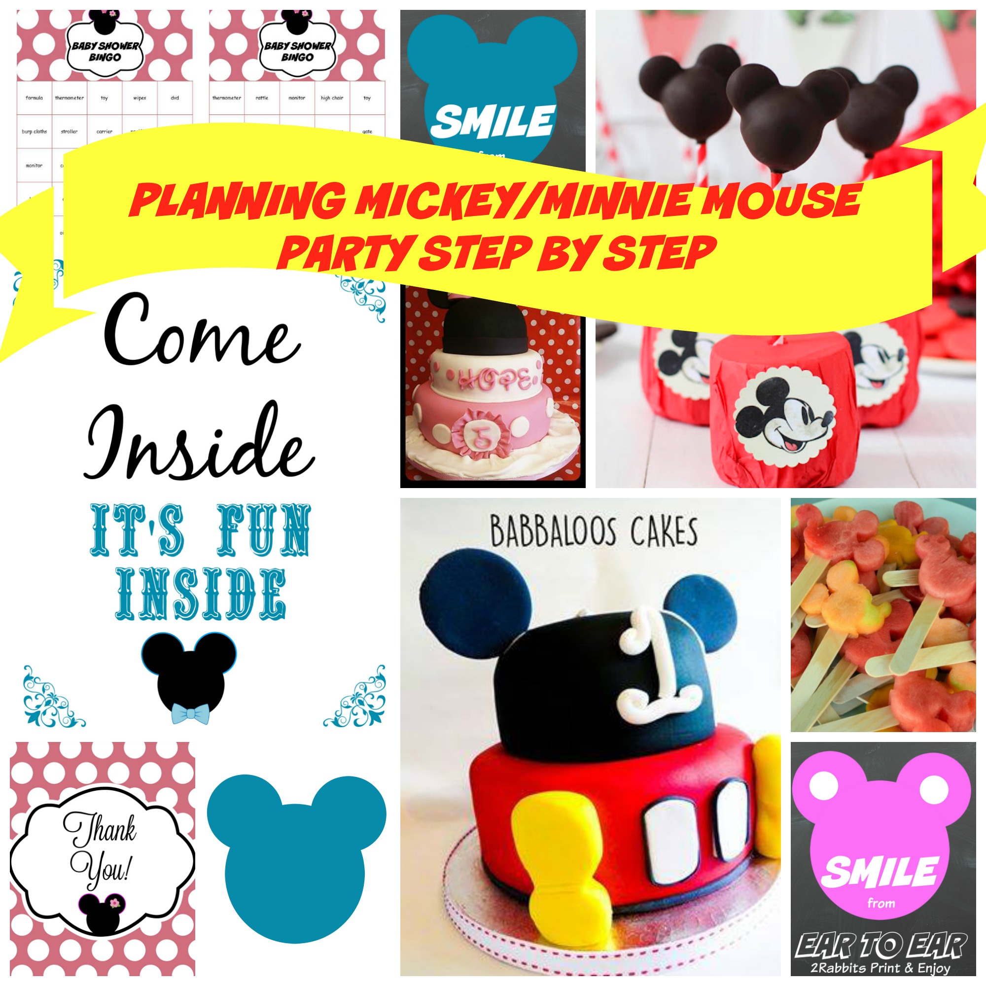 Mickey Mouse and Minnie Mouse Party Ideas