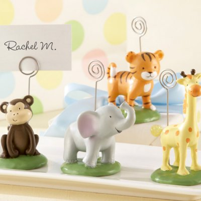 safari jungle animals baby shower place card holders