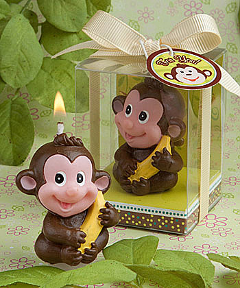 Monkey Baby Shower Candle Favor