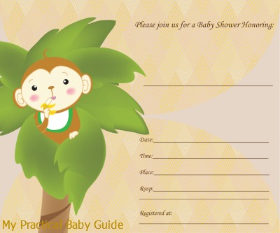 Free Printable Monkey Baby Shower Invitations correctly perfect ideas for your invitation layout