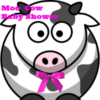 Moo Cow Baby Shower Theme Ideas