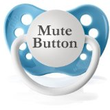 Mute Button Pacifier Baby Shower Gift for Dad