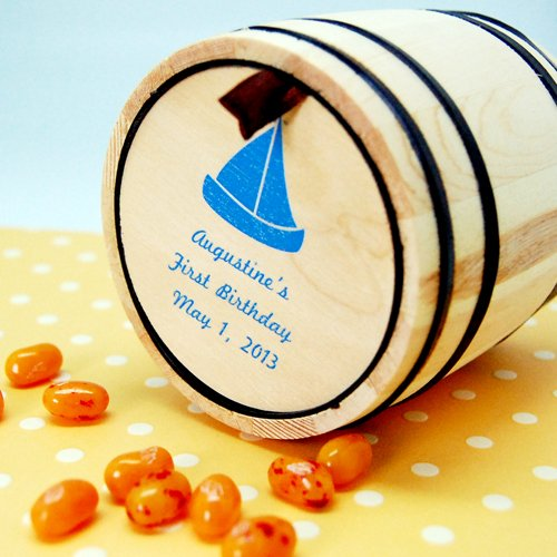 Nautical Mini Candy Barrel 1st Birthday