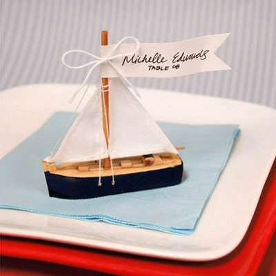 Sailboat Place Card Holder Favor