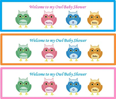 Free Owl Baby Shower Custom Bottle Labels