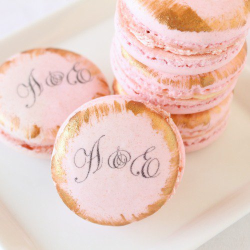 Paris macarons decorated cookies