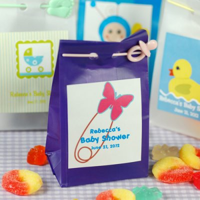 Personalized Baby Shower Candy Bags