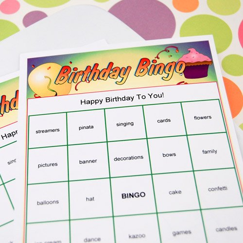 Personalized Superhero Bingo Birthday Game