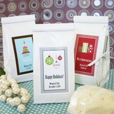 Personalized Holiday Cookie Mix Favor