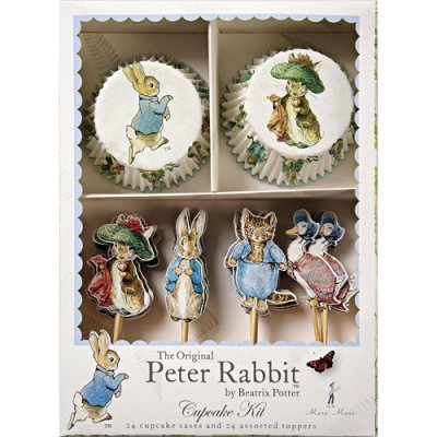 Peter Rabbit Cupcake Warppers and Toppers