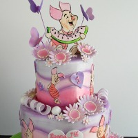 Piglet from Winnie the Pooh Book Themed Cake