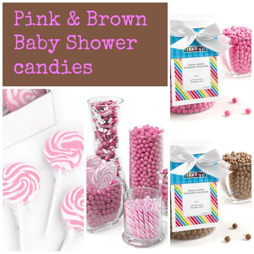 Pink & Brown Baby Shower Candies