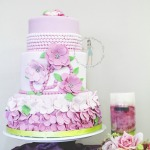 Pink Flower Baby Shower Cake