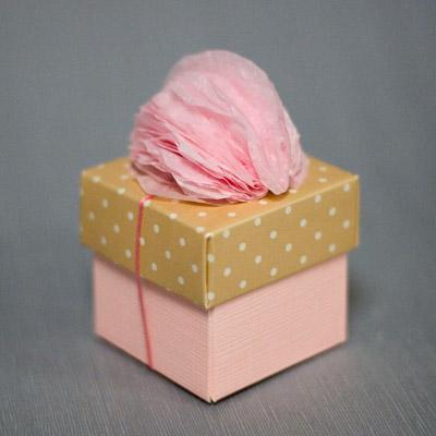 Pom Pom Decoration on a Favor Box