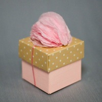 Pom Pom Decoration on a Favor Box