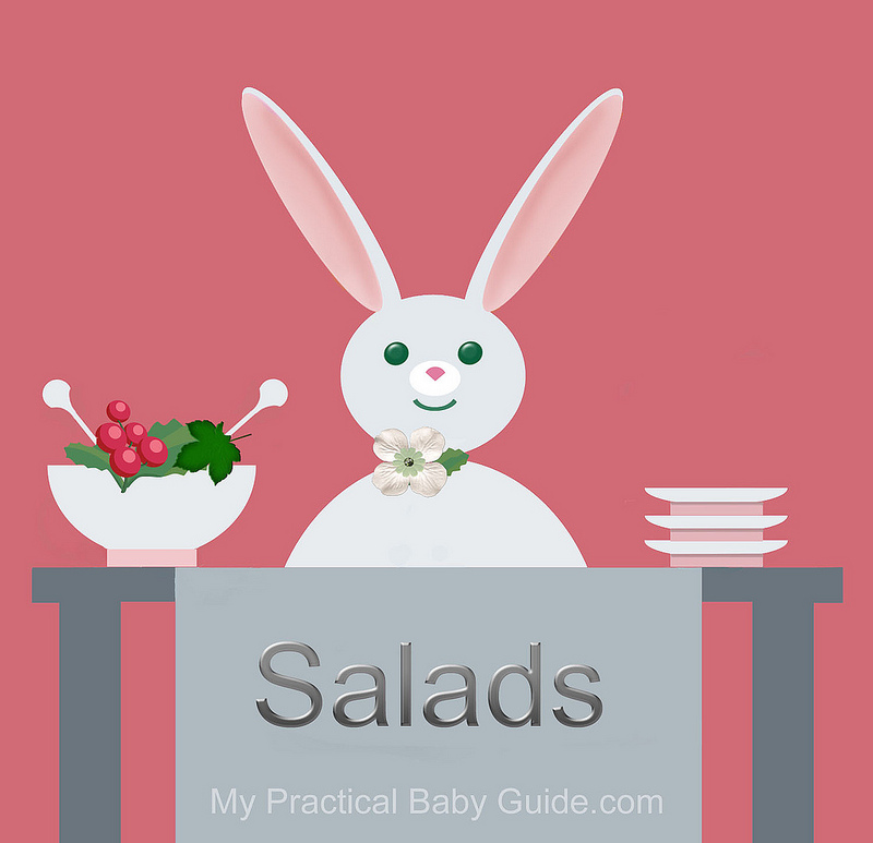 Free Printable Rabbit Baby Shower Food Labels Salads