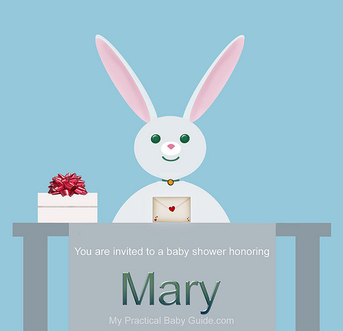 Free Printable Rabbit Boy Baby Shower Invitation