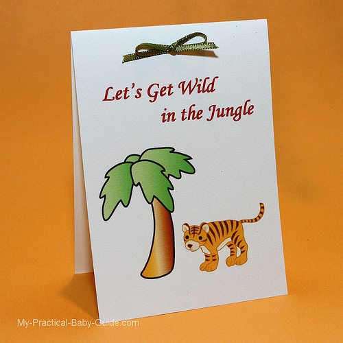 Free Safari Tiger Baby Shower Printable