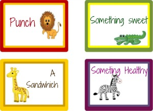 free safari jungle baby shower food labels
