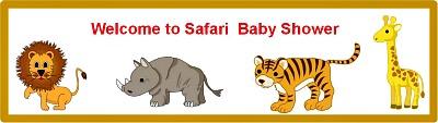 free safari jungle custom bottle label