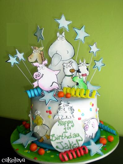 Sandra Boynton Book Themed Baby Shower Cake