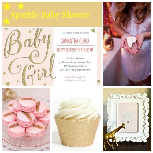 Sparkle Baby Shower Inspiration Board Ideas