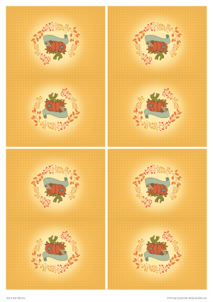 Free Printable Thanksgiving Baby Shower Table Tent Cards