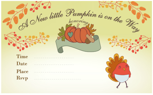 Free Printable Thanksgiving Baby Shower
