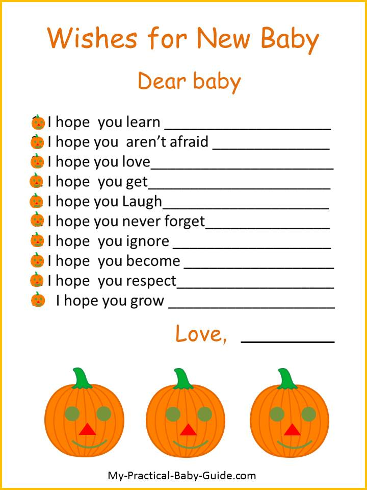 Free Printable Thanksgiving Wishes for New Baby