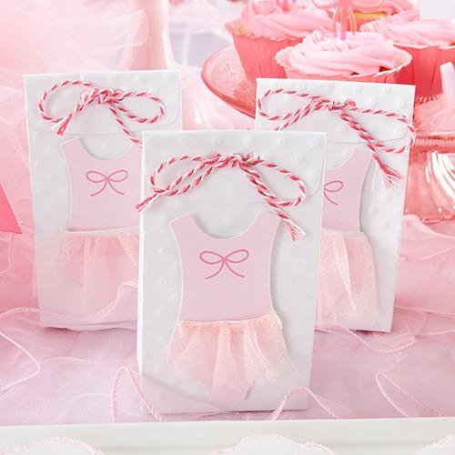Pink Tutu Favor Bags