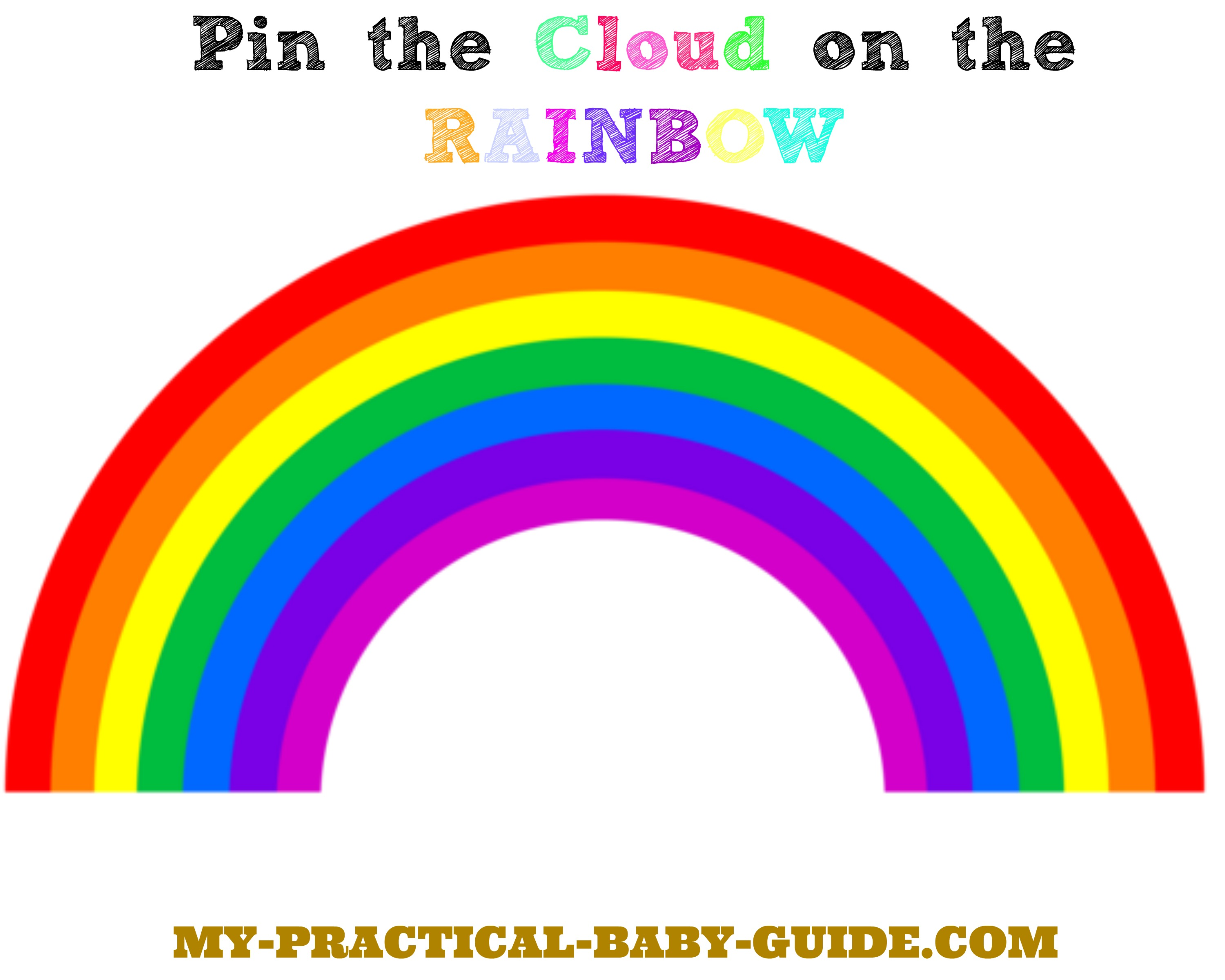 Free Printable Game Pin the Cloud in the Rainbow
