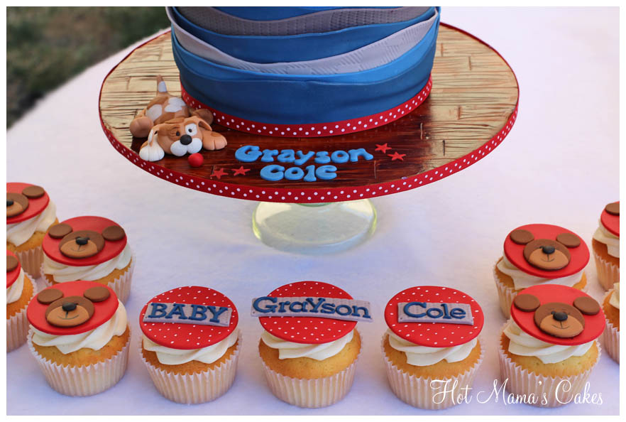 Vintage Toy Filled Wagon Baby Shower Cake