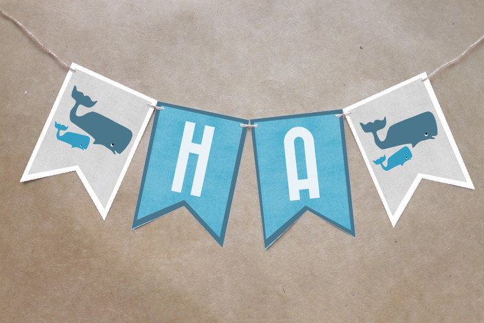 Whale Baby Shower Banner
