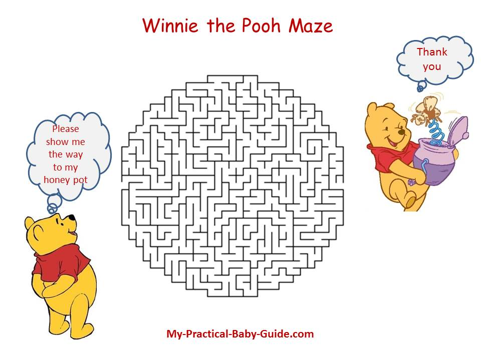 Winnie the Pooh Maze Party Game