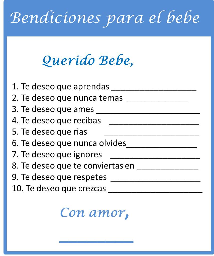 Baby Shower Games in Spanish - My Practical Baby Shower Guide