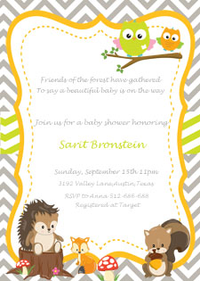 Woodland Baby Shower Invitation Etsy Shop 2 Rabbits Print & Enjoy