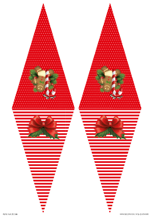 Free Printable Christmas Baby Shower Bunting Flags