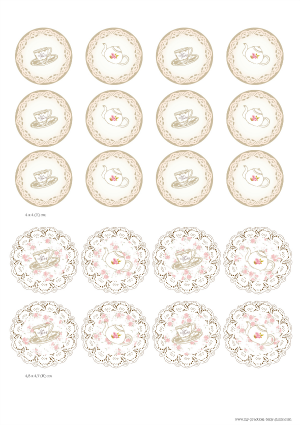 Free Printable Tea Party Baby Shower Cupcake Toppers