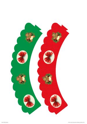 Free Printable Christmas Cupcake Wrappers
