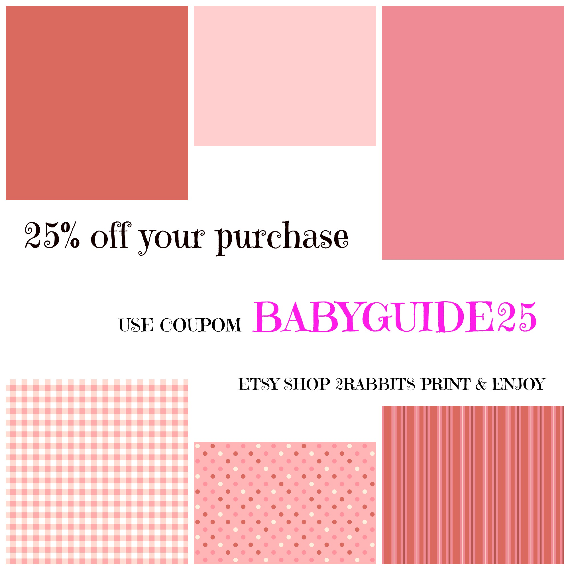 Etsy Coupon for My Practical Baby Guide Visitors