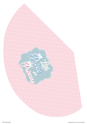 Free Printable Gender Reveal Hat Little Prince or  Princess