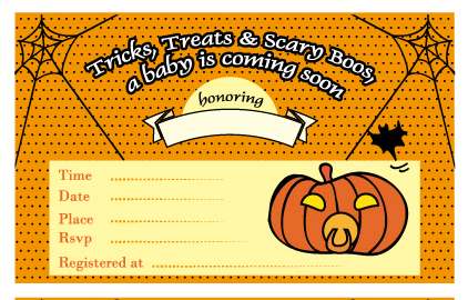 Free Printable Halloween Baby Shower Invitation