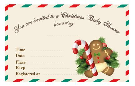 Free Printable Christmas Baby Shower Invitation